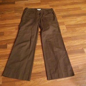 Brown GAP Khaki Wide Leg Trousers Sz. 8